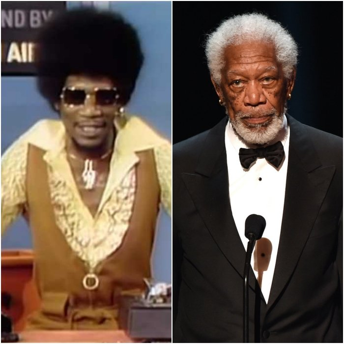 morgan freeman en los 70's y en 2020