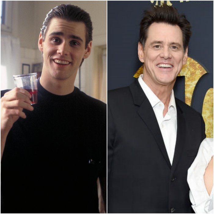 actor y comediante jim carrey en los 80's y en 2020