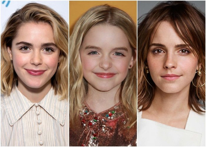 Kiernan Shipka, McKenna Grace y Emma Watson