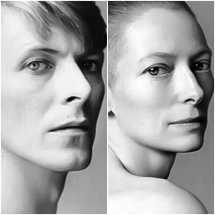 David Bowie y Tilda Swinton