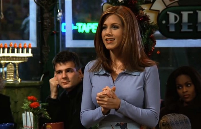 escena de friends rachel green jennifer aniston