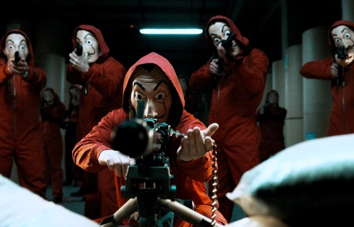 escena de money heist la casa de papel