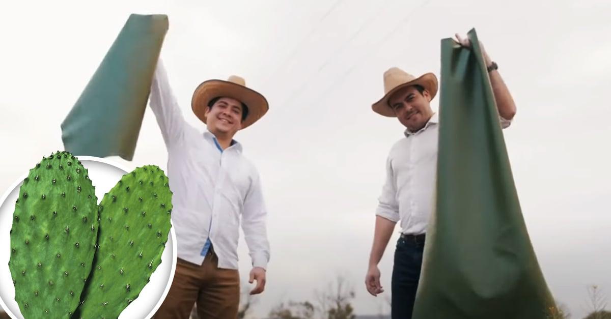 Mexicanos le dicen adiós al cuero animal y crean uno orgánico a base de nopal