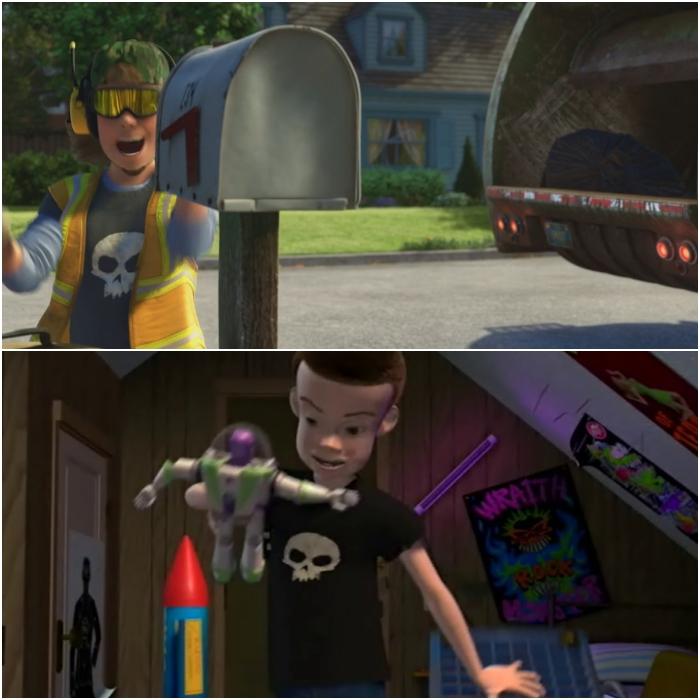 escena de toy story 1 y toy story 3