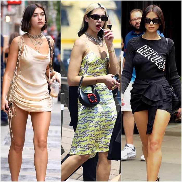 dua lipa street style dresses