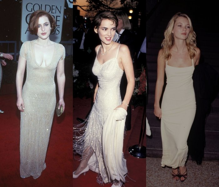 gillian anderson, winona ryder and kate moss