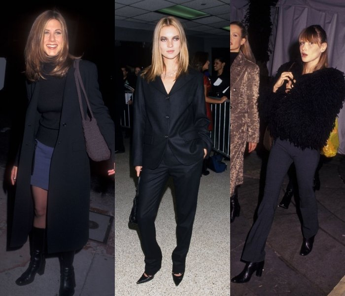 Jennifer Aniston, Kate Moss and Carla Brunni