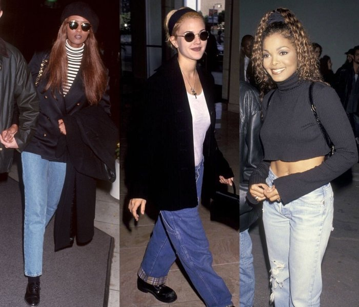 Iman, Drew Barrymore and Janet Jackson