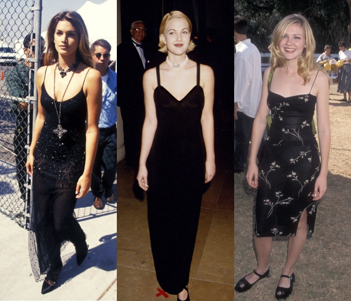 cindy crawford, drew barrymore and kirsten dunst