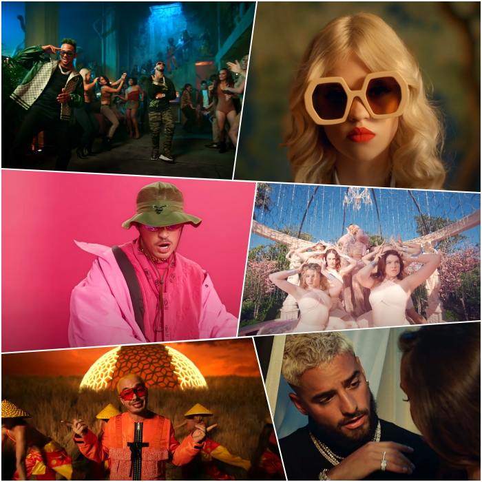 "Anuel AA ft. Daddy Yankee, Ozuna, Karol G & J Balvin – ""China"" Bad Bunny – ""Yo Perreo Sola"" Black Eyed Peas ft. Ozuna & J. Rey Soul – ""MAMACITA"" J Balvin – ""Amarillo"" Karol G ft. Nicki Minaj – ""Tusa"" Maluma ft. J Balvin – ""Qué Pena"""