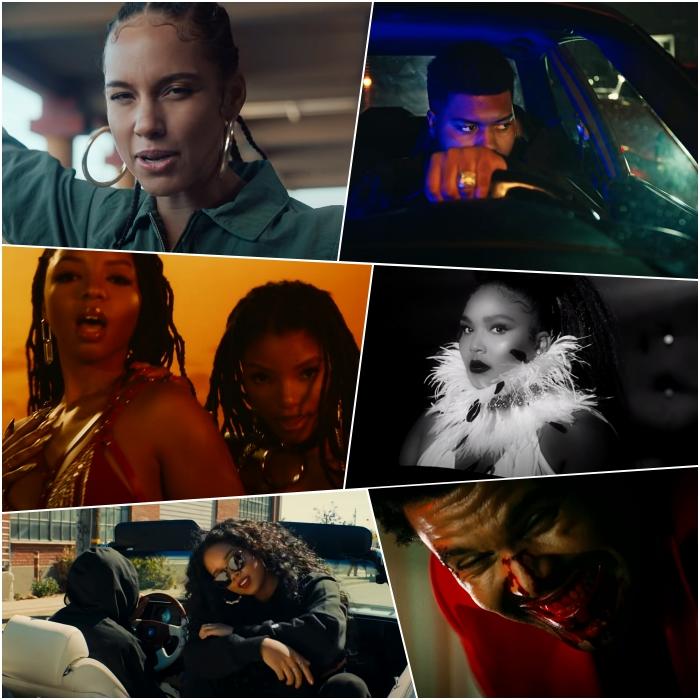 "Alicia Keys – ""Underdog"" Chloe x Halle – ""Do It"" H.E.R. ft. YG – ""Slide"" Khalid ft. Summer Walker – ""Eleven"" Lizzo – ""Cuz I Love You"" The Weeknd – ""Blinding Lights"""