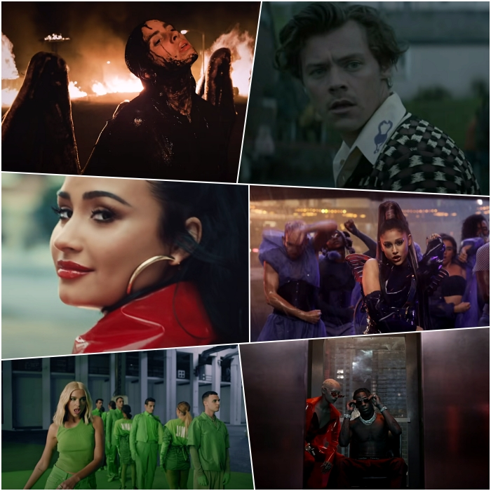 "Billie Eilish – ""All the Good Girls Go to Hell"" – Visual Effects by Drive Studios Demi Lovato – ""I Love Me"" – Visual Effects by Hoody FX Dua Lipa – ""Physical"" – Visual Effects by EIGHTY4 Harry Styles – ""Adore You"" – Visual Effects by Mathematic Lady Gaga with Ariana Grande – ""Rain on Me"" – Visual Effects by Ingenuity Studios Travis Scott – ""HIGHEST IN THE ROOM"" – Visual Effects by ARTJAIL, SCISSOR FILMS & FRENDER"