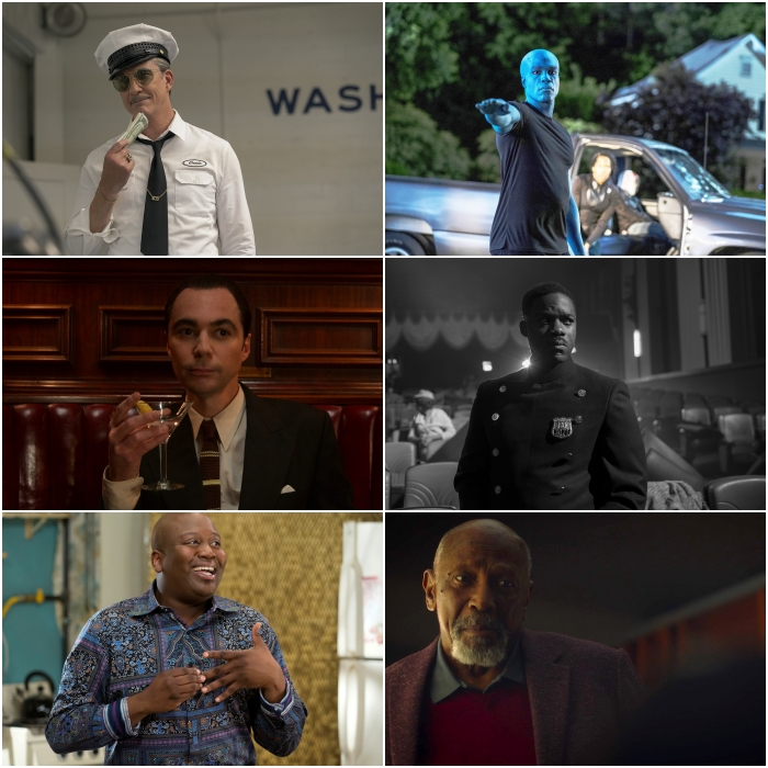 Dylan McDermott y Jim Parsons en Hollywood, Tituss Burgess en Unbreakable Kimmy Schmidt: Kimmy Vs. The Reverend; y Yahya Abdul-Mateen II, Jovan Adepo y Louis Gossett Jr. en Watchmen