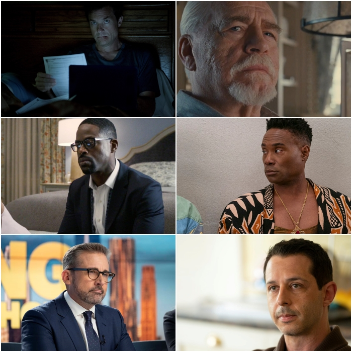 Jason Bateman en Ozark, Sterling K. Brown en This Is Us, Steve Carell en The Morning Show, Brian Cox en Succession, Billy Porter en Pose y Jeremy Strong en Succession