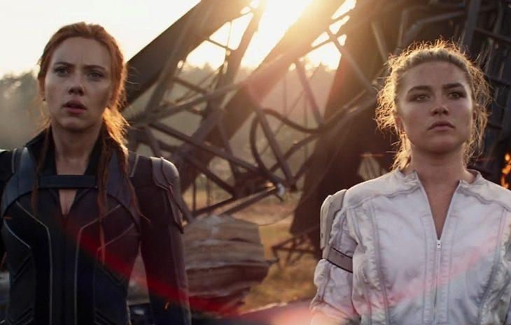 scarlett johansson y florence pugh en la película black widow