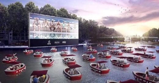 Paris nos sorprende con su nuevo cine flotante