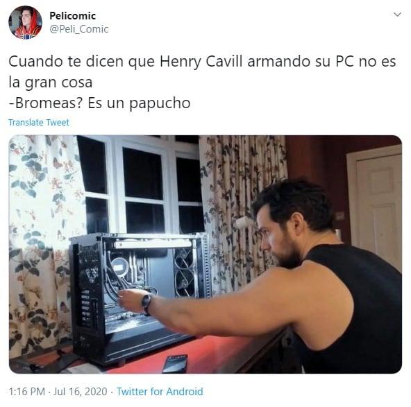 opiniones de twitter sobre henry cavill