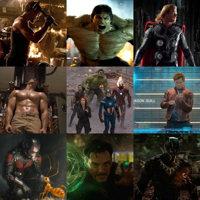 escenas del universo cinemático de marvel
