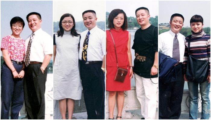 Hua Yunqing y su hija Huahua recrean la misma foto durante años