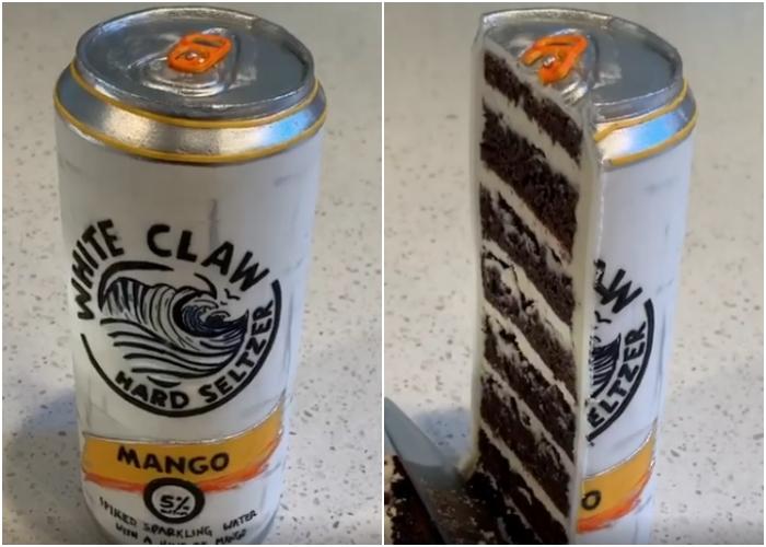 pastel en forma de lata
