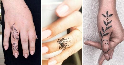 15 Hermosas ideas para sustituir tus anillos tradicionales por una tatuaje