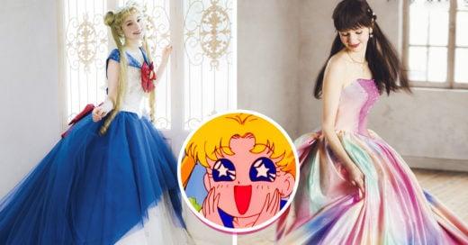 Vestidos de novia de 'Sailor Moon' te harán decir 'por el poder del prisma lunar, acepto'