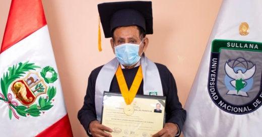 Abuelito se gradúa de la universidad a los 73 años