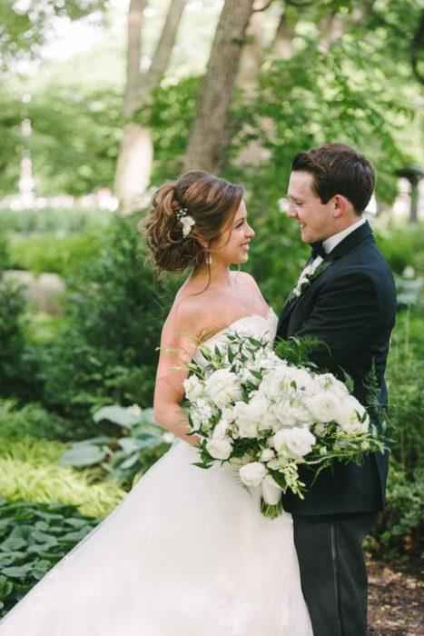 Breanna y Aaron el día de su boda