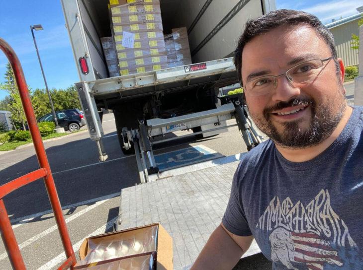 George fundador de EastWest Food Rescue