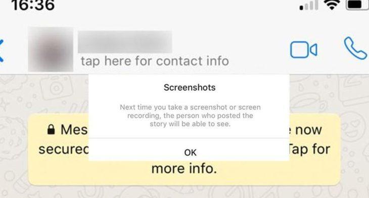 WhatsApp ya no permitirá realizar captura de pantalla a las conversaciones