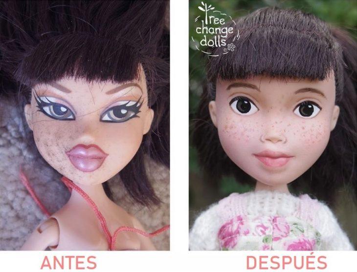 Antes y después de muñeca que transformó Sonia