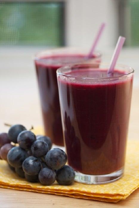 Jugo de uva y vinagre de manzana