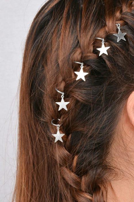 anillos con estrellas para el cabello