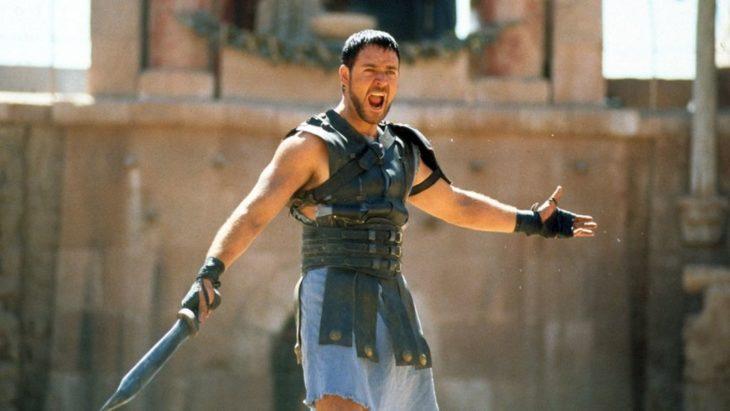 Escena de la película Gladiador protagonizada por Rusell en el 2000