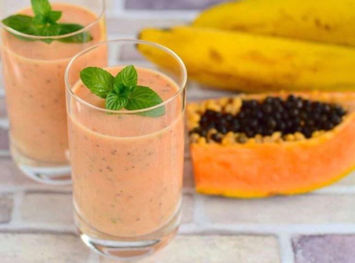 batido de Papaya para evitar inflamación