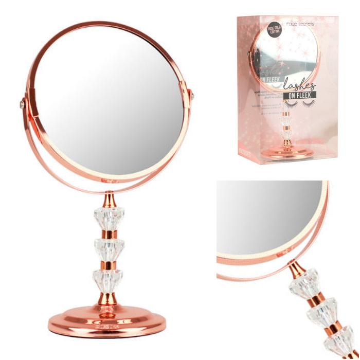 espejo en color rose gold para un maquillaje perfecto