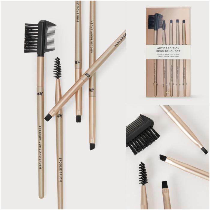 set kit de pinceles y brochas para delineado de cejas