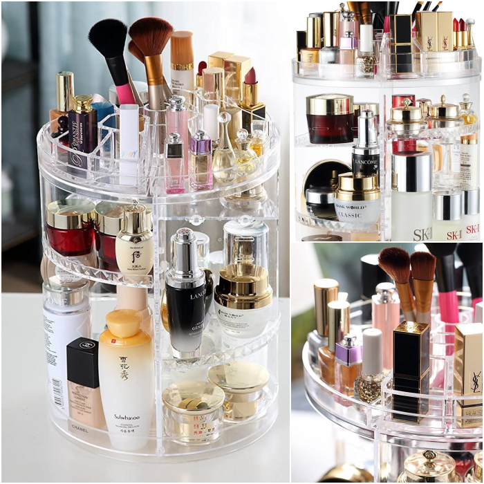 organizador de acrilico para maquillaje stand