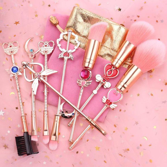 Set de brochas para maquillaje inspiradas en Sailor Moon