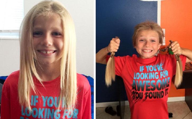 Niño dejó crecer su cabello por 2 años para después cortarlo y donarlo para hacer pelucas para niños con cáncer