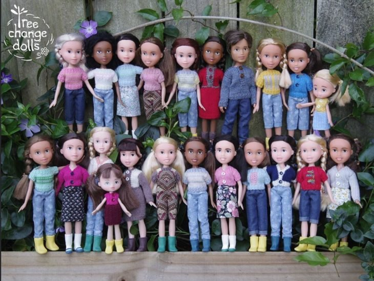 Muñecas transformadas por Tree Doll Changes