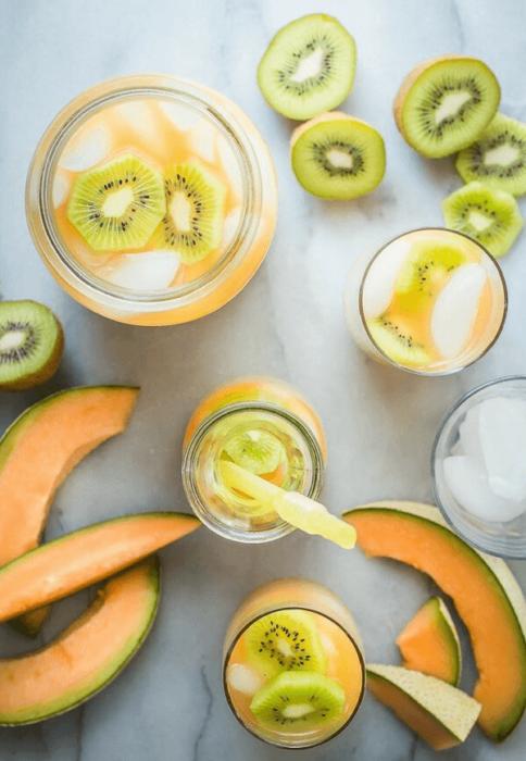 Detox de melón y kiwi