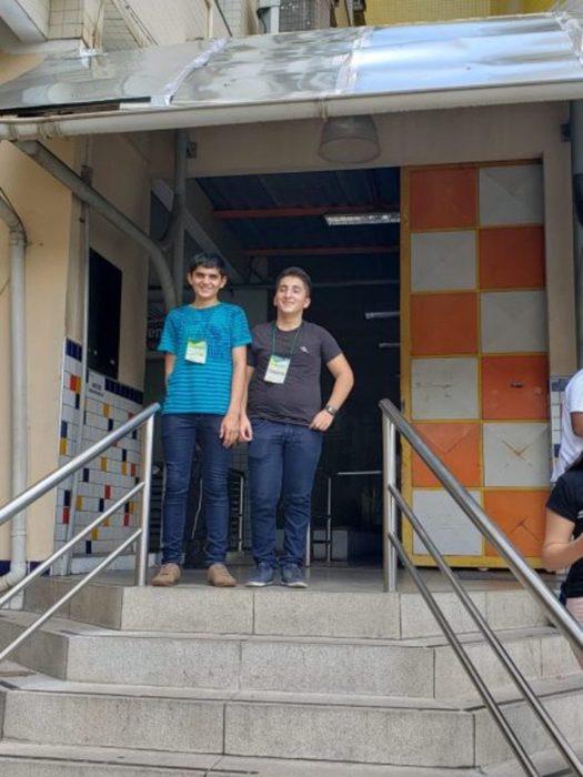 Jailsom y Francisco en la secundaria