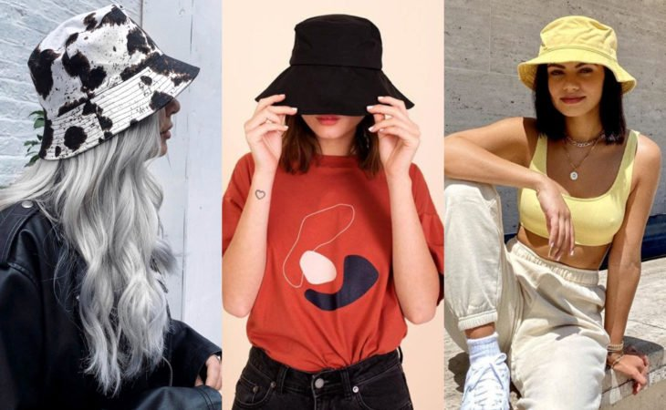 Pretty hair accessories; hairstyle with bucket hat