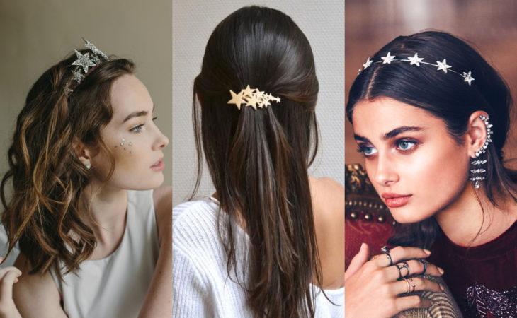 Pretty hair accessories; star pins