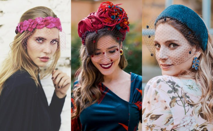 Pretty hair accessories; hairstyle with net fabric headdress