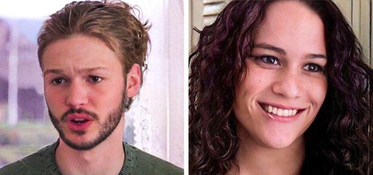 Julia Stiles y Heath Ledger en 10 cosas que odio de ti pero con el rostro intercambiado