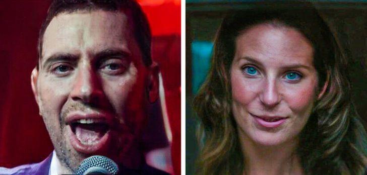 Lady Gaga y Bradley Cooper en A Star is a Born con el rostro intercambiado