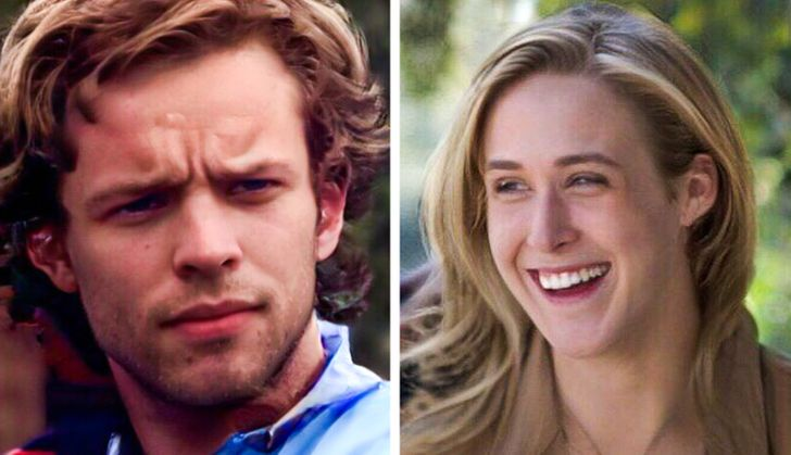 Rachel McAdams y Ryan Gosling con el rostro intercambiado en Diario de una pasión