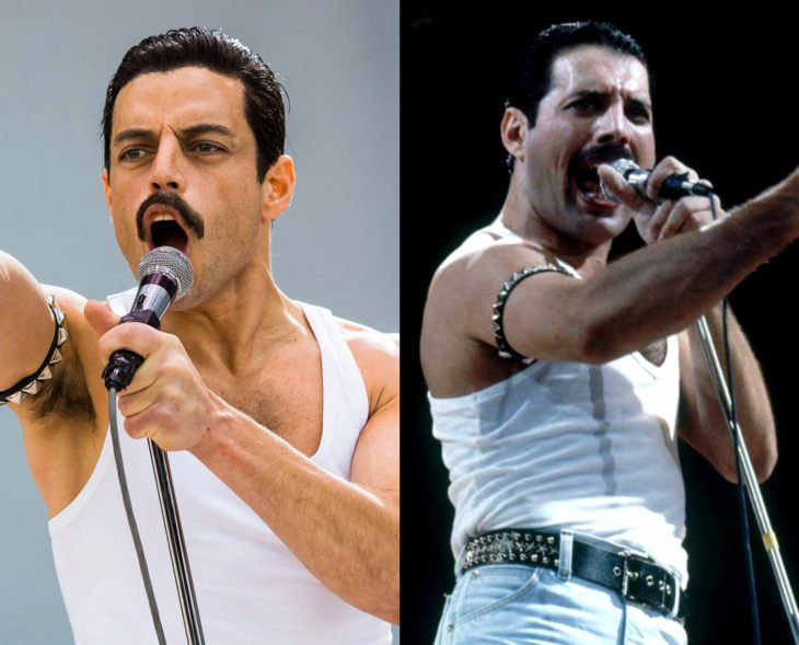 Actores que se parecen a los personajes históricos que interpretaron en películas; Rami Malek, Freddie Mercury, Bohemian Rhapsody